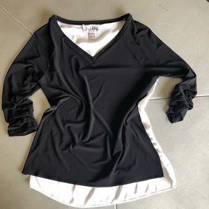 JOSEPH RIBKOFF black /white dress blouse 4